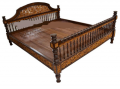 Thai traditional carvings wood bed