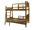 European classical second floor wooden bed