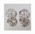 Kate Earring silver flower ball