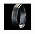 Kate Ring mokume gane white gold and palladium ksm621