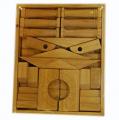 Wooden puzzle block set