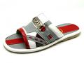 Sandals Red-Light Gray-White Nappa